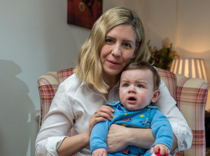 Andrea Jenkyns and son