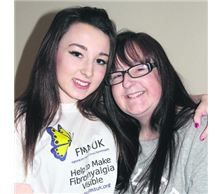 Holly Kirkby with mum Joanne